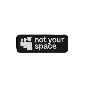 Волчок Патч NOT YOUR SPACE