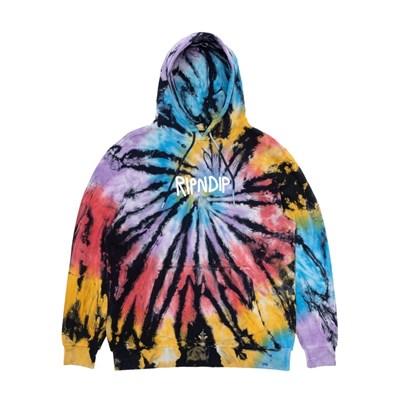 Толстовка RIPNDIP Rubber Logo Hoodie Sunburt Spiral Tie Dye