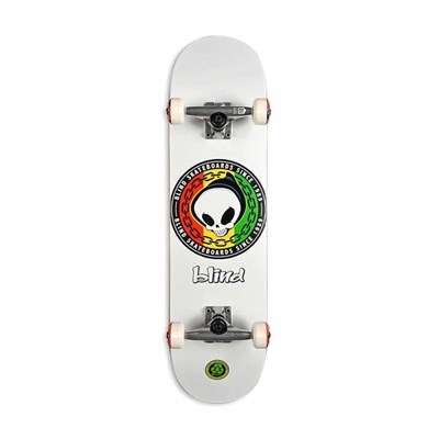 Скейт в сборе Blind Rasta Reaper FP  White 8.125