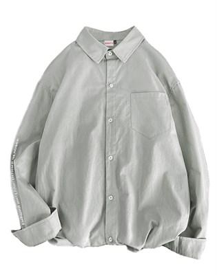 Плотная рубашка БИЧ серый