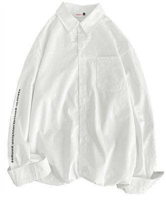 Плотная рубашка БИЧ молочный