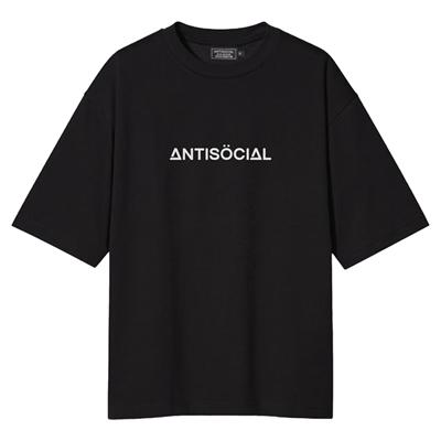 Футболка ANTISOCIAL oversize basic черный