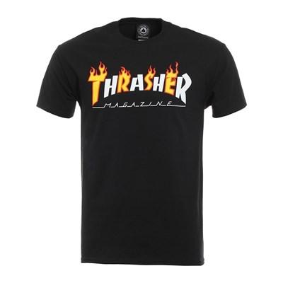 Thrasher Футболка FLAME MAG S/S Black