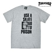 Футболка THRASHER Use a skate go to prsion grey
