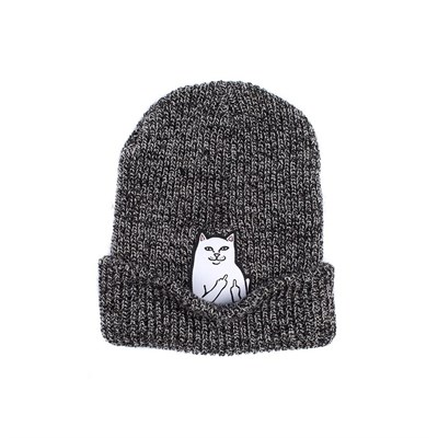 RIPNDIP Шапка Lord Nermal Knit Beanie Gray Spekled