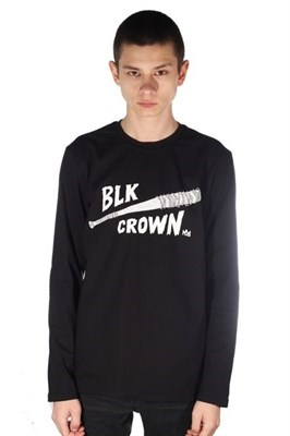 Blk Crown Лонгслив Bat black