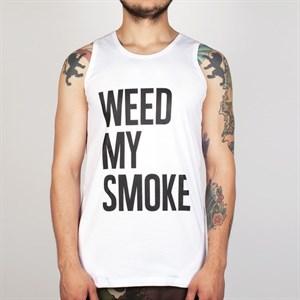 Майка TRUESPIN Weed My Smoke White
