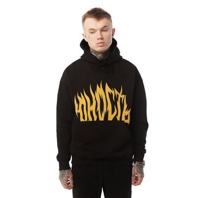 ЮНОСТЬ Худи «Пламя» - лого Черный