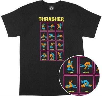 Thrasher футболка BLACK LIGHT S/S black