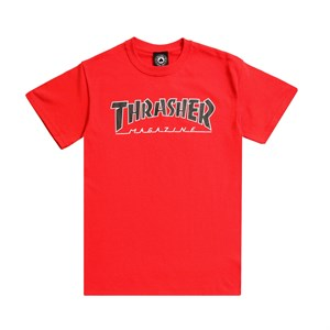 Thrasher футболка OUTLINED S/S red