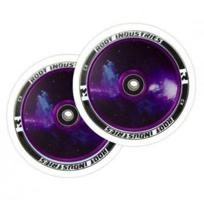 Упаковка колес 2 шт RI 110 mm белый ПУ/ Galaxy