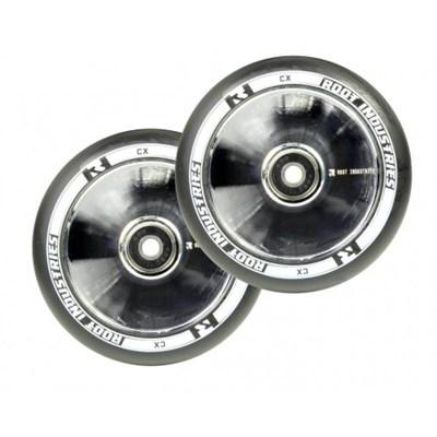 Упаковка колес 2 шт RI 110 mm  черно/зеркальные NEW