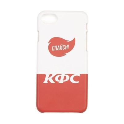 Юность Чехол для iPhone КФС х Ю. «Спайси» (Белый, Пластик, 6/6S) (арт. YCC0394.001.2324)