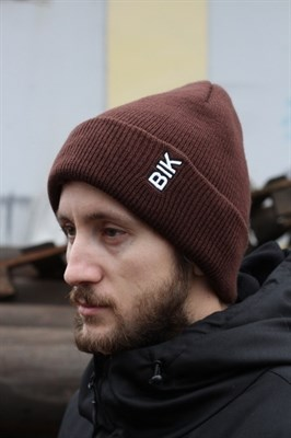 Blk Crown Шапка Vertical logo (chock brown)