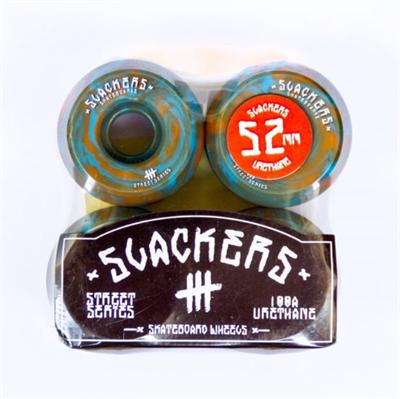 "Колеса SLACKERS street series ""stoner"" синий и оранжевый, 100А/52мм"