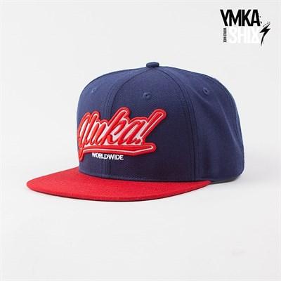 Кепка Ymka Shix navy logo snap (сине-красный)