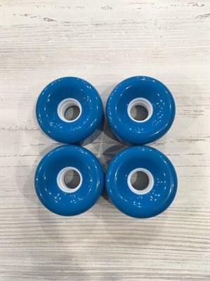 Колеса 70мм голубые4шт (полусрез)