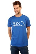 футболка K1X tag tee royal blue white