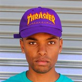 Thrasher Кепка FLAME OLD TIMER HAT PURPLE - фото 7378
